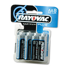 Rayovac 815-8C Maximum Plus Alkaline Batteries, Aa, 8/Pack