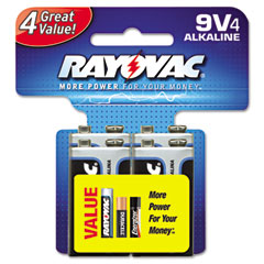 Rayovac A1604-4CD Ultra Pro Alkaline Batteries, 9V, 4/Pack