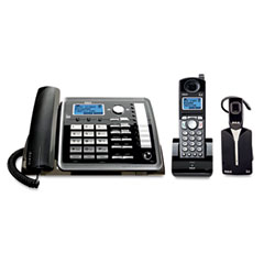 Rca - visys 25270re3 two-line corded/cordless phone system with cordless headset, sold as 1 ea