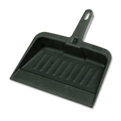 Rubbermaid commercial - heavy-duty dustpan, 8-1/4 wide, polypropylene, charcoal, sold as 1 ea