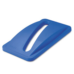 Rubbermaid commercial - slim jim paper recycling top, 20 3/8 x 11 3/8 x 2 3/4, dark blue, sold as 1 ea