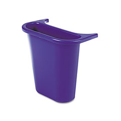 Rubbermaid commercial - wastebasket recycling side bin, attaches inside or outside, 4 3/4 qt, blue, sold as 1 ea