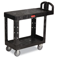 RCP 450500BK Flat Shelf Utility Cart, 2-Shelf, 19-3/16W X 37-7/8D X 33-1/3H, Black