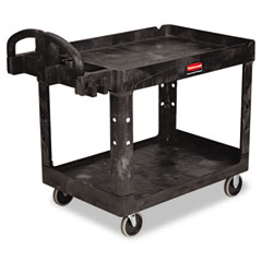 RCP 452088BK Heavy-Duty Utility Cart, 2-Shelf, 25-7/8W X 45-1/4D X 33-1/4H, Black
