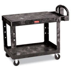 RCP 452500BK Flat Shelf Utility Cart, 2-Shelf, 25-7/8W X 43-7/8D X 33-1/3H, Black