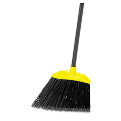 Rubbermaid commercial - lobby pro broom, poly bristles, 28-inch metal handle, black/yellow, sold as 1 ea