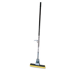 Rubbermaid commercial - steel roller sponge mop, bronze handle w/12-inch wide yellow sponge, sold as 1 ea