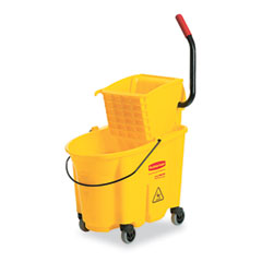 RCP 748018YW Wavebrake 26-Quart Side Press Mop Bucket & Wringer Combo, Yellow