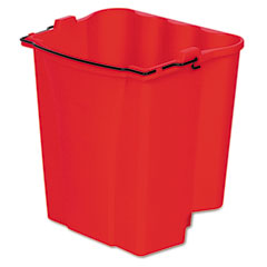 RCP 9C74RED Dirty Water Bucket For Wavebrake Bucket/Wringer, 18-Quart, Red