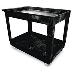 RCP 9T6700BLA Service/Utility Cart, 2-Shelf, 24W X 40D X 31-1/4H, Black