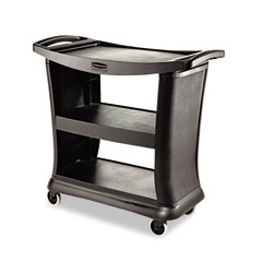 RCP 9T6800BK Executive Service Cart, 3-Shelf, 20-1/3W X 38-9/10D, Black