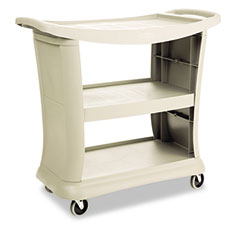 RCP 9T6800PLAT Executive Service Cart, 3-Shelf, 20-1/3W X 38-9/10D, Platinum