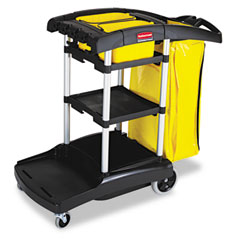 RCP 9T7200BK High Capacity Cleaning Cart, 21-3/4W X 49-3/4D X 38-3/8H, Black