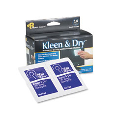 Read Right RR1205 Kleen & Dry Screen Cleaner Wet Wipes, Cloth, 5 X 5, 14/Box