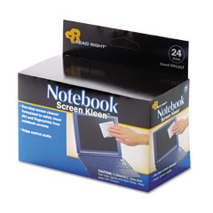 Read Right RR1217 Notebook Screenkleen Pads, Cloth, 2 1/2 X 5 1/4, White, 24/Box