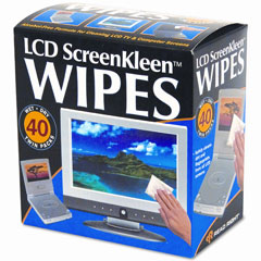 Read Right RR1391 Screenkleen Alcohol-Free Wet Wipes, Cloth, 5 X 5, 40/Box