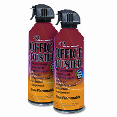 Read right - officeduster plus all purpose duster, 2 10oz cans/pack, sold as 1 pk