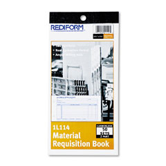 Rediform 1L114 Material Requisition Book, 4-1/4 X 7-7/8, Two-Part Carbonless, 50-Set Book