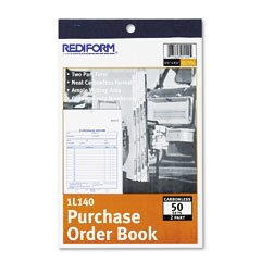 Rediform 1L140 Purchase Order Book, Bottom Punch, 5-1/2 X 7-7/8, Two-Part Carbonless, 50 Forms