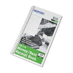Rediform - money and rent unnumbered receipt book, 5-1/2 x 2-3/4, two-part, 200 sets/book, sold as 1 ea