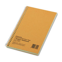 National brand - subject wirebound notebook, narrow rule, 5 x 7-3/4, green, 80 sheets, sold as 1 ea