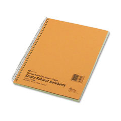 National brand - subject wirebound notebook, narrow/margin rule, 8 x 10, green, 80 sheets, sold as 1 ea