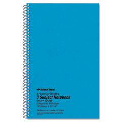 National brand - 3-subject wirebound notebook, college rule, 6 x 9-1/2, we, 150 sheets/pad, sold as 1 ea