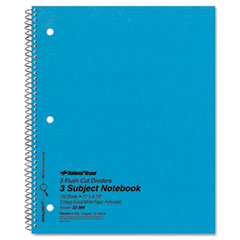 National brand - 3-subject wirebound notebook, college rule, letter, we, 150 sheets/pad, sold as 1 ea