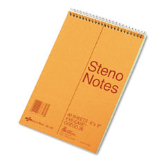 National brand - standard spiral steno book, gregg rule, 6 x 9, green, 80 sheets/pad, sold as 1 ea