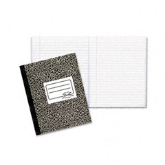 Rediform 43460 Composition Book, Wide/Margin Rule, 7-7/8 X 10, White, 80 Sheets/Pad