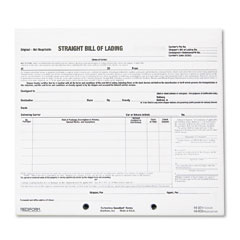 Rediform 44-301 Bill Of Lading Short Form, 8-1/2 X 7, Three-Part Carbonless, 250 Forms