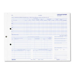 Rediform 44B-950N Expense Report For Recording Maximum Detail, 11 X 8-1/2, Two-Part, 50 Forms