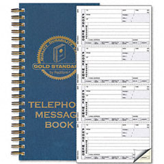 Rediform 50-079 Wirebound Message Book, 2-3/4 X 5, Two-Part Carbonless, 600 Sets/Book