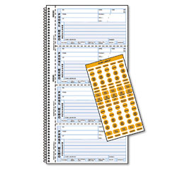 Rediform - wirebound message book, 2-3/4 x 5-3/4, carbonless copy, 400 forms, 120 labels, sold as 1 ea