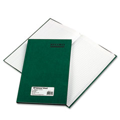 National brand - emerald series account book, green cover, 150 pages, 12 1/4 x 7 1/4, sold as 1 ea
