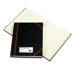 National brand - texhide accounting book, black/burgundy, 300 green pages, 10 3/8 x 8 3/8, sold as 1 ea