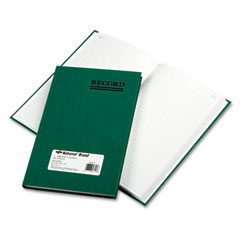 National brand - emerald series account book, green cover, 200 pages, 9 5/8 x 6 1/4, sold as 1 ea