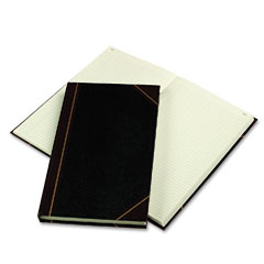 National brand - texhide series account book, black/burgundy, 300 green pages, 14 1/4 x 8 3/4, sold as 1 ea