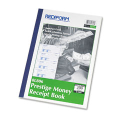Rediform - money receipt book, 7 x 2-3/4, carbonless duplicate, 200 sets/book, sold as 1 ea