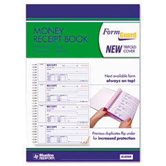Rediform - money receipt book, 2-3/4 x 7, carbonless triplicate, 100 sets, sold as 1 ea