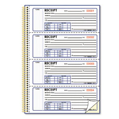 Rediform - money receipt book, 7 x 2-3/4, carbonless duplicate, twin wire, 300 sets/book, sold as 1 ea