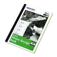 Rediform - money receipt book, 2-3/4 x 7, carbonless duplicate, 400 sets/book, sold as 1 ea