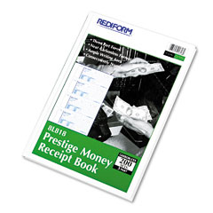 Rediform - money receipt book, 2-3/4 x 7, carbonless triplicate, 200 sets/book, sold as 1 ea