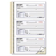 Rediform - money receipt book, 2-3/4 x 5, two-part carbonless, 225 sets/book, sold as 1 ea