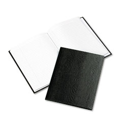 Rediform A7BLK Exec Notebook, College/Margin Rule, 9-1/4 X 7-1/4, We/Blk, 75 Sheets