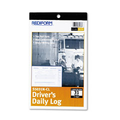 Rediform - driver's daily log, 5-3/8 x 8-3/4, carbonless duplicate, 31 sets/book, sold as 1 ea