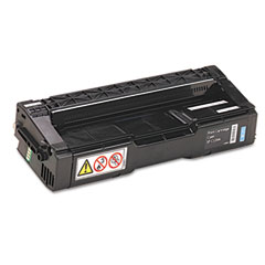 Ricoh - 406047 toner, 2000 page-yield, cyan, sold as 1 ea