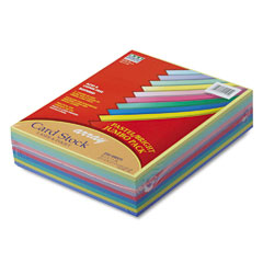 Pacon 101195 Array Card Stock, 65 Lbs., Letter, Assorted Colors, 250 Sheets/Pack