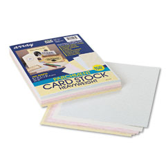 Pacon 101235 Array Card Stock, 65 Lbs., Letter, Assorted Parchment Colors, 100 Sheets/Pack