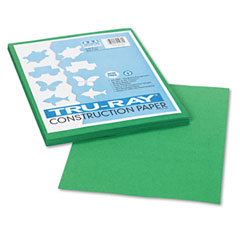Pacon 102960 Tru-Ray Construction Paper, 76 Lbs., 9 X 12, Holiday Green, 50 Sheets/Pack